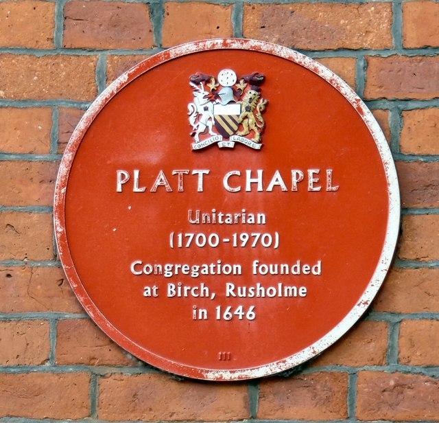 Platt Chapel: Plaque