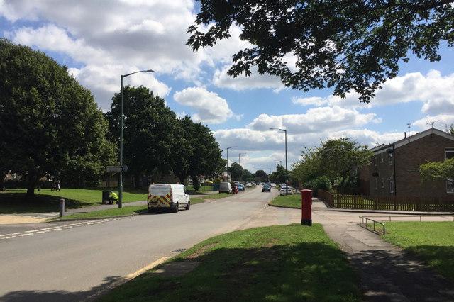 Southeast on Chelmsley Road, Chelmsley Wood, east Birmingham