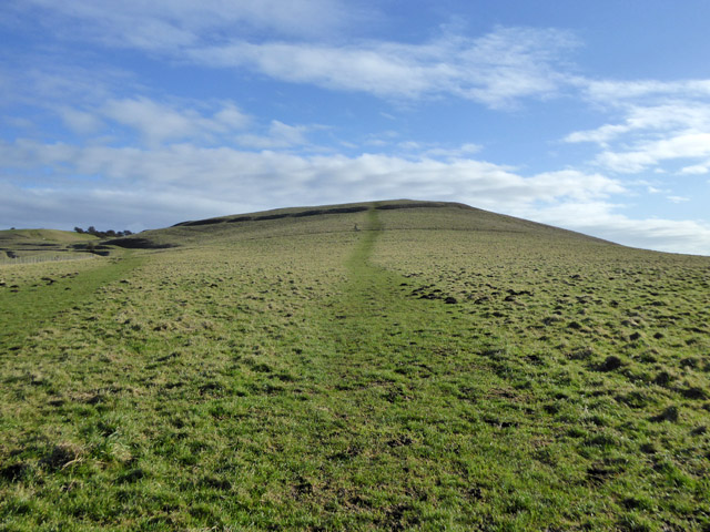 The way up Knap Hill