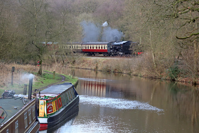 Canal and Railway at Consall