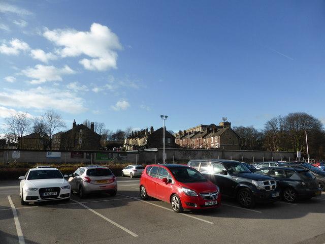 Cars, Terraces, Blue sky