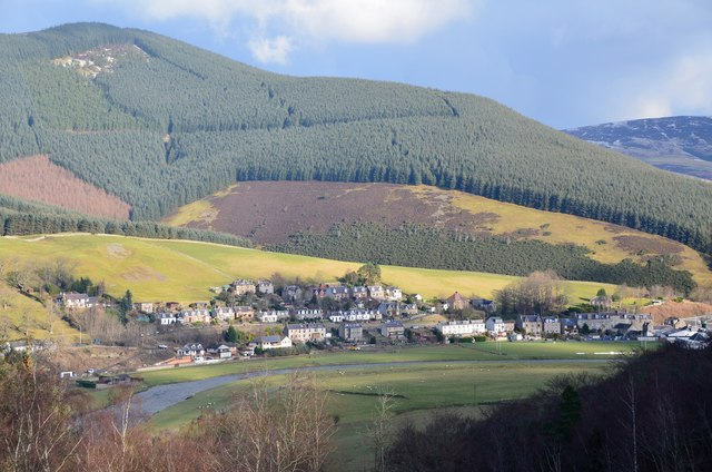 Walkerburn from the southwest