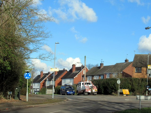 Crumpfields Lane Redditch Junction With Church Road