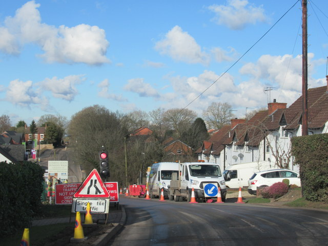 Road Works on Church Road Redditch
