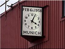 SJ8096 : The Munich Clock, Old Trafford by David Dixon