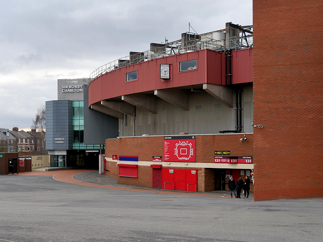 Old Trafford, The Munich Tunnel and Memorial Clock