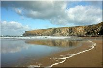 SX0486 : Beach, Trebarwith Strand by Derek Harper