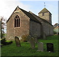 SO3727 : East and north side of St Peter's Church, Rowlestone by Jaggery