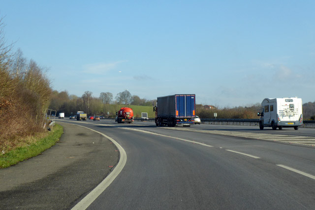 Joining the northbound M23 at junction 10a