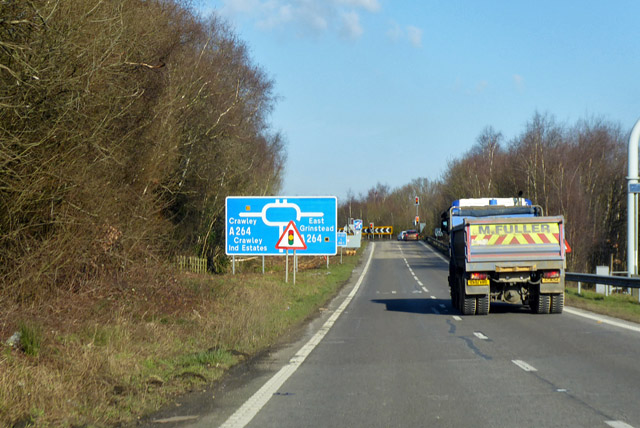 Leaving northbound M23 at junction 10