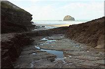 SX0486 : Track to beach, Trebarwith Strand by Derek Harper