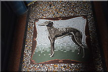 TQ2764 : Greyhound Mosaic, Greyhound Inn by N Chadwick