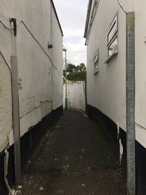 Alley off the east side of Ipswich Street, Stowmarket