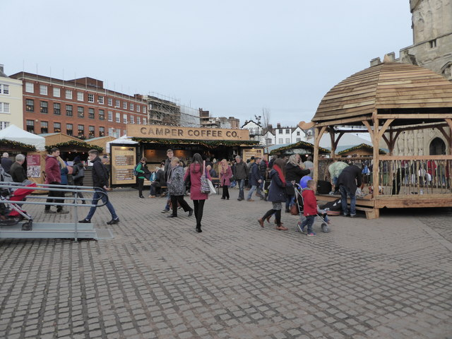 Christmas Market, Cathedral Green, Exeter