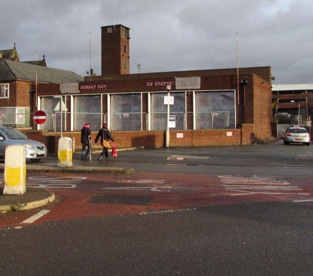Derelict former Wrexham Fire Station