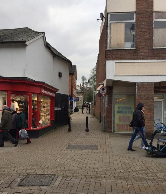 Marriotts Walk, off Ipswich Street, Stowmarket