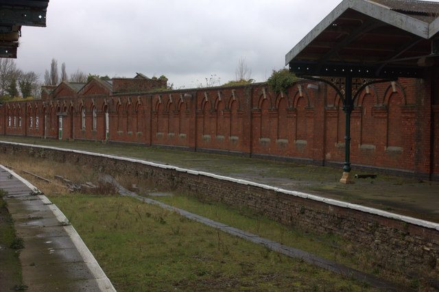 March station. Disused platform on the north side.