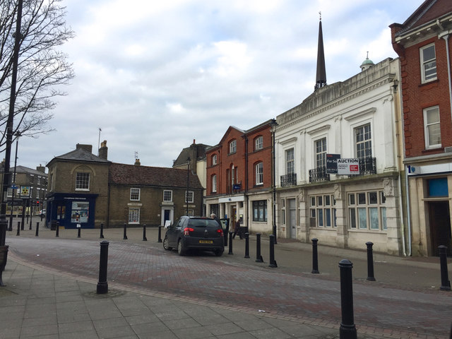 Market Place, Stowmarket, looking north