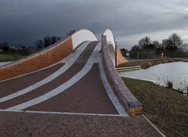 Towpath Bridge at Dunchurch Pools Marina