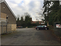 TM0458 : Private parking behind Crowe Street premises, Stowmarket by Robin Stott