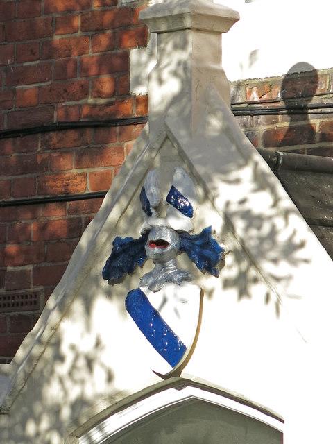 1-7 Noel Caron Houses, Fentiman Road, SW8 - crest above door