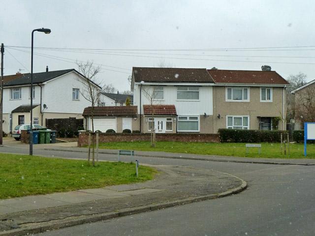 Houses, corner of Tillotson Road and Ufford Road