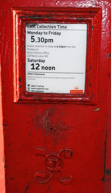Victorian Penfold type postbox (3), corner of Ladbroke Grove & Oxford Gardens, Kensington, London