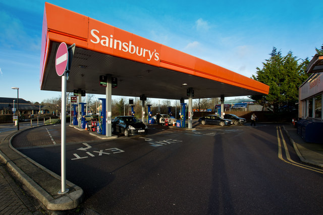 A refuelling station in Gratton Way