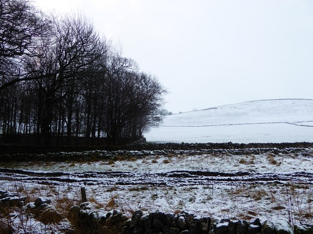 Dusting of snow near Taddington
