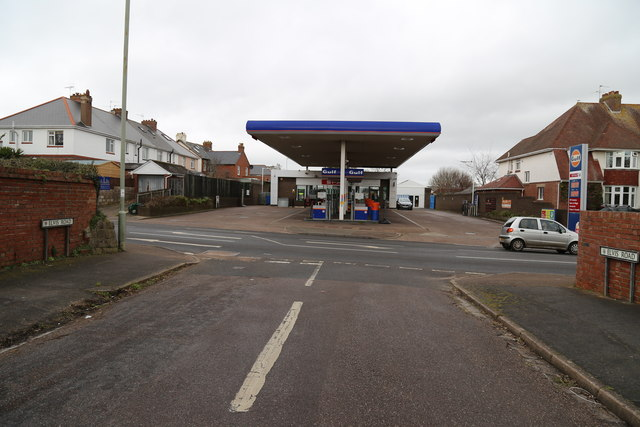 Salterton Road Gulf Filling Station