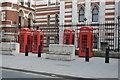 TQ3181 : 4 telephone kiosks by N Chadwick