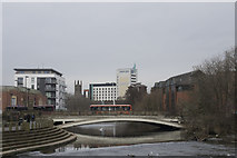 SK3536 : Derby river gardens by Malcolm Neal