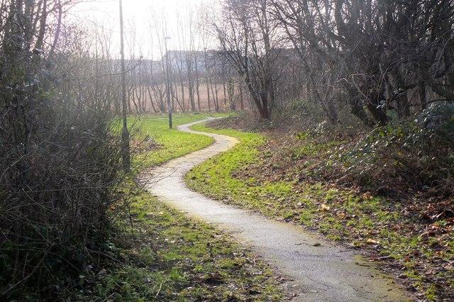 Path in Burdiehouse Burn Valley Park
