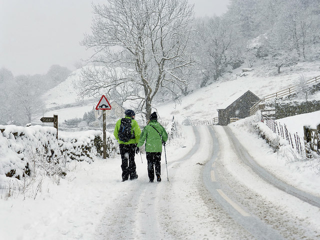 A snowy walk in St John's in the Vale