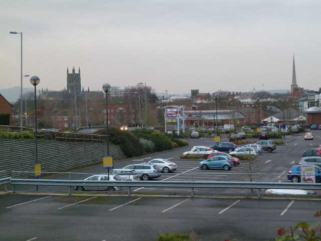 Worcester from near Shrub Hill Station