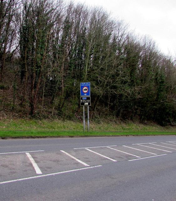 Black and blue, Bassaleg Road, Newport