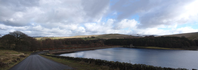 Errwood reservoir and dam
