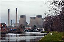 SE4824 : Ferrybridge power station from canal by derek dye