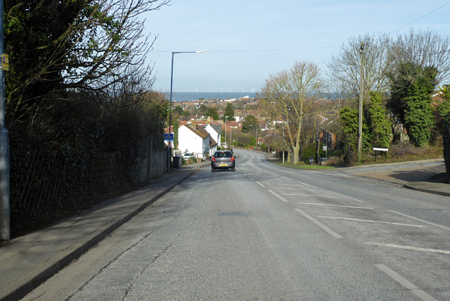 Down Borstal Hill into Whitstable