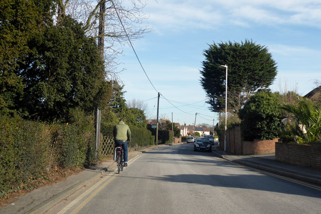 Cycling on Joy Lane, Seasalter