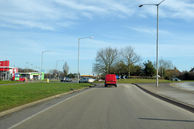 Roundabout on A2990 Thanet Way