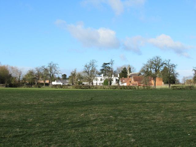 Whittington Village From Public Footpath