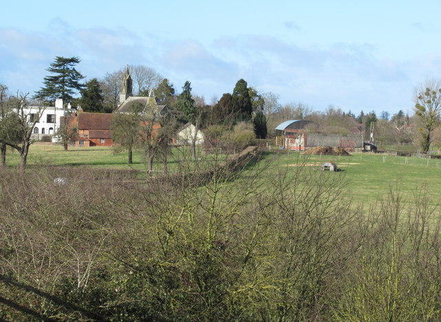 Whittington Village From Public Footpath Bridge Over M5