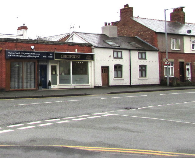 Two businesses alongside The Highway, Hawarden