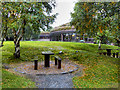 C0423 : Picnic Benches and Visitor Centre at Glenveagh National Park by David Dixon