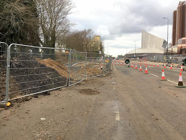 Metrolink Extension Work on Trafford Wharf Road
