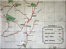 TQ2879 : LBSCR Map of Suburban Lines, Victoria Station - detail by Mike Quinn