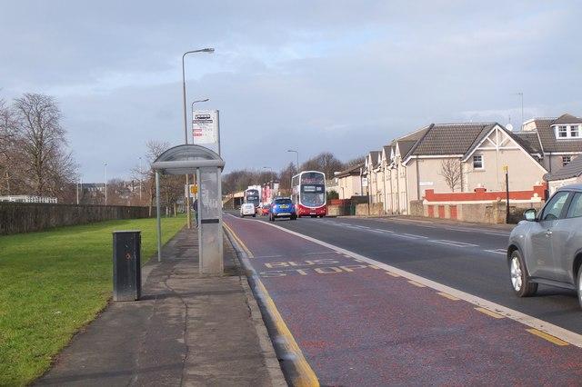 Bus stop, Old Dalkeith Road Edinburgh