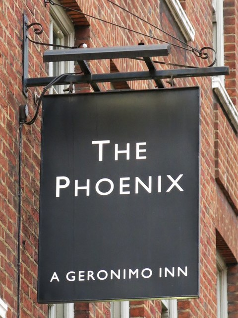 Sign for The Phoenix, Palace Street / Cathedral Walk, SW1