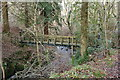 NX0980 : Swing Bridge, Glenapp Wood by Billy McCrorie
